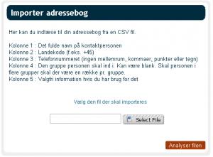 CSV import take IV