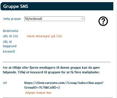 Tilmeld til lister grupper via hjemmeside instruktion