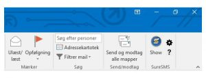 Outlook SMS Add-in menu icon
